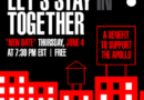 """Let's Stay (IN) Together: A Benefit For The Apollo Theater"" Concert LiveStream Rescheduled To Thursday, June 4 At 7:30pm ET/4:30pm PT In Observance Of Black Out Tuesday"