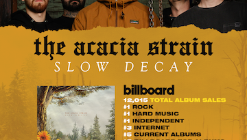"The Acacia Strain's ""Slow Decay"" Smashes Its Way Onto The Charts + Into Your Blackened Metal Hearts"