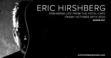 Eric Hirschberg livestream with The Hotel Cafe on Oct 30 @ 6:30pm PST