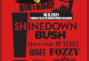 SHINEDOWN, BUSH AND CANDLEBOX LEAD ALL-STAR LINEUP FOR RESCHEDULED EARTHDAY BIRTHDAY NUMBER 27 MUSIC FESTIVAL AT ORLANDO'S TINKER FIELD ON OCTOBER 9 // TICKETS ON SALE NOW AT TICKETMASTER.COM
